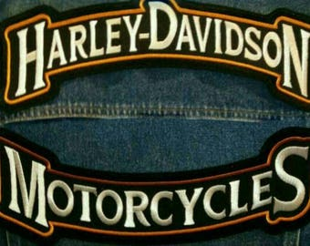 Harley Davidson® rockers patch. Rockers patch for biker. 2psc