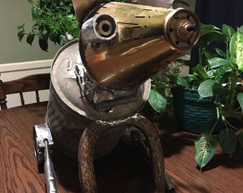Gas Can Dog Recycled Metal Yard Art