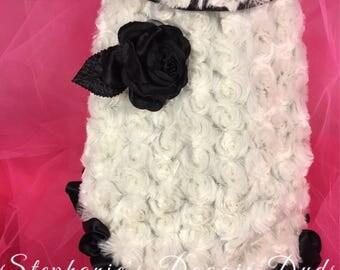 Rosette Fur Dog Coat Dog Clothes  Dog Apparel