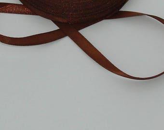 1 m width 6.7 mm Brown satin ribbon