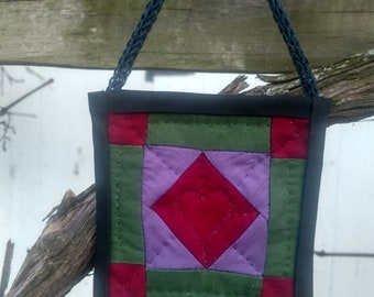 Amish quilt ornament