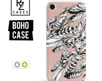 Boho Phone Case, iPhone 7 Case, Feather Phone Case, iPhone 6 Case, iPhone 7 Plus Case, Bohemian Phone Case, iPhone 6 plus, Samsung Galaxy