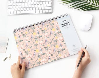2018 MONTHLY PLANNER | Desk Planner | Calendar 2018 | Free Notes | 365 Day | Pattern Planner | Big Planner | Yearly Planner | Christmas Gift
