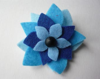Felt flower brooch/present topper
