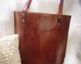 Tote Bag Women's Purse Women's Handbag Leather Handbag Leather Tote Bag Shoulder Bag Full Grain Veg Tan Leather Tote Bag Gifts For Her