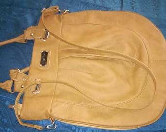 Handbag, purse, artificial leather, brown