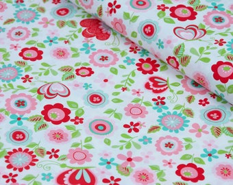 Floral Fabric, Fabric by the Yard Cotton Fabric 100% Cotton Fabric Quilting Fabric Apparel Fabric Quilt Fabric Pink Floral Fabric Yardage