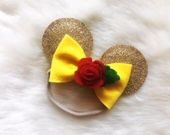 Belle Inspired Baby Ears