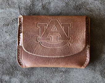 he Officially Licensed Auburn Fine Leather Front Pocket Wallet