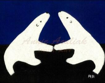 Print #7: The Double Bears of Nunavut