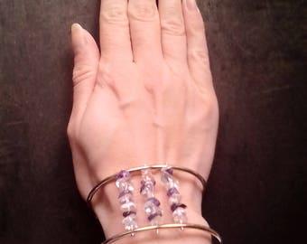 Bracelet sterling silver and semi precious stones