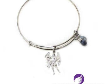 Archangel Michael Bangle with Sodalite
