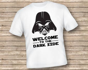 STAR WARS, svg, Silhouette, Welcome to the Dark Side dxf, T-Shirt Decal,High Resolution, Cricut File, Darth Vader,Clipart, Printable,ST-021