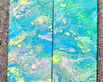 Fluid Acrylic Paintings