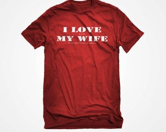 I Love My Wife Men's Football T-shirt