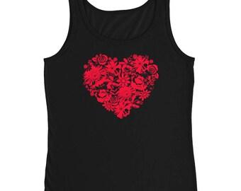 floral shirt - vintage shirt - floral blouse - flower shirt - vintage floral shirt - heart shirt - love shirt - valentine shirt - valentines