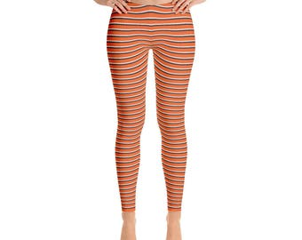 Orange and Black Spirit Leggings