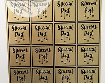 48 Special Post Stickers, Perfect for parcels, packages, letters, Small Business, Order, Labels, Stickers, Sale, Clearance