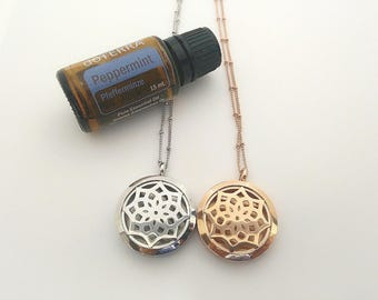 Aromatherapy necklaces - with felt pads