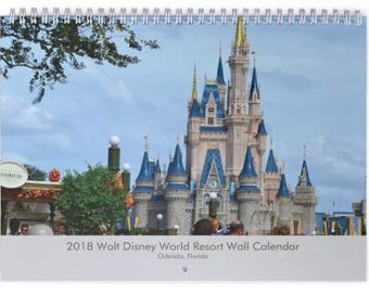 2018 Walt Disney World Resort Wall Calendar - Magic Kingdom - EPCOT Center - Hollywood Studios -Animal Kingdom - Orlando Florida