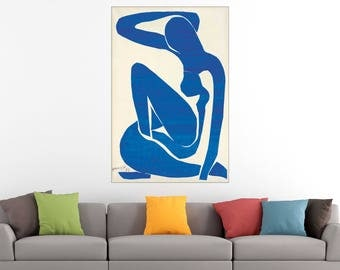 Henri Matisse Blue Nude Fauvism Art Print Poster Canvas/Glossy HD Canvas, Gallery Wrap Or Glossy Poster