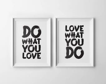 Do What You Love Love What You Do Quote Unique Do What You Love  Etsy