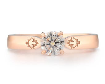 The Toronto Ring - Lab Grown Moissanite 14K Rose Gold