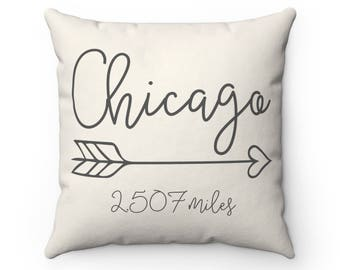 Long Distance Map Pillow | Long Distance Relationship | Custom Map Pillow | Distance Pillow | Anniversary Gift | Home Pillow
