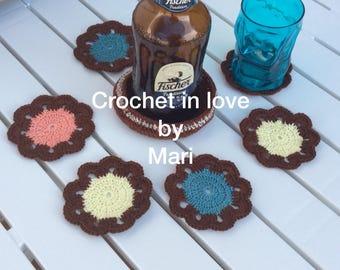 Set of 6 coasters more crochet coaster 1