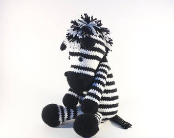 Crochet Zebra, Amigurumi Zebra, Zebra, Stuffed Zebra, Baby Shower Gift, Stuffed Animal, Stuffed Pony, Gifts for Kids, Zebra Nursery