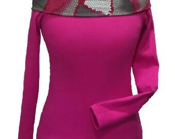 Dress Jersey long sleeve boat neck