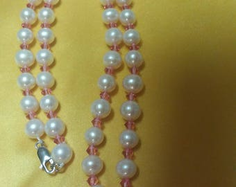 Swarovski crysta and pearl necklace
