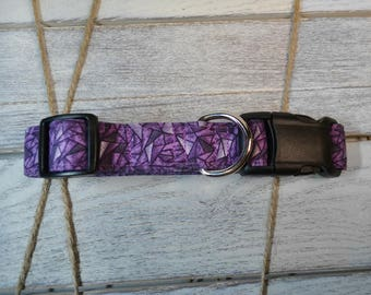 Muave Kaleidoscope _ Pattern Dog Collar