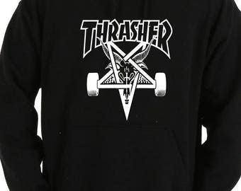 Thrasher Inspired  Skategoat Hoodie Sz:S-2XL