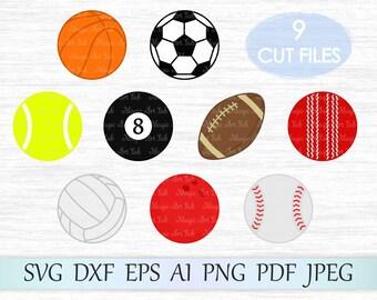 Sport SVG, Balls Clipart, Sport Balls SVG, Svg balls, Balls svg, Sport svg files, Balls Cut File, Football Svg, Soccer Svg, Baseball Svg Cut