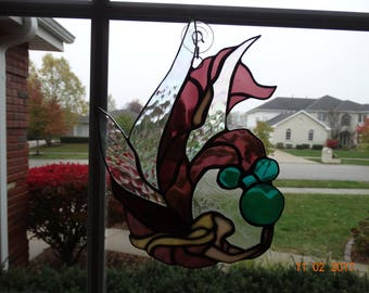 Stained glass water fairy