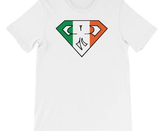 Short-Sleeve Irish Superman T-Shirt for Him or Her