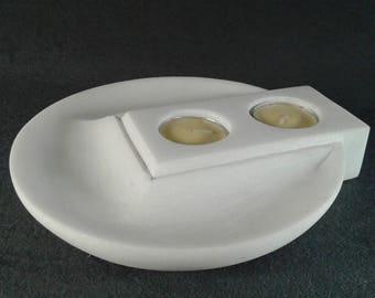 Handmade marble, Minimalist, Marble Candleholder