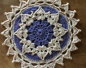 "Crochet Trivet, Pot Holder, Hot Pad, Doily 13"" Round"