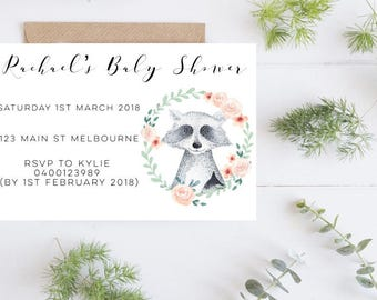 Baby Shower-Baby Shower Invite-Invitation-Printed Baby Shower Invites-Baby Sprinkle Invitation-Baby Shower Invitation-Invitation magnets