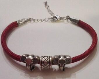 Elephants shambala bracelet