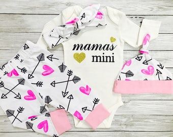 Baby Clothes, Mommy and Me Outfits, Mama's Mini, Baby Clothes Mom, Newborn Girl Outfit, Mommy and Me