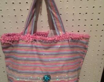 Pretty Pastel Print purse/Tote