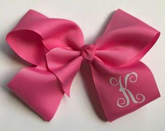6 inch monogrammed hair bows, girls hair bows, hair bows for girls, easter gift