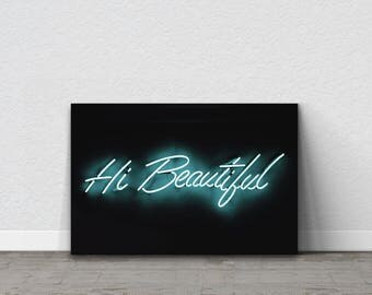 Neon Sign, Neon Wall Art, Neon Canvas, Positive Affirmation, Positive Wall Art, Home Decor, Unique Gift For Wife, Gift For Girlfriend, Dorm