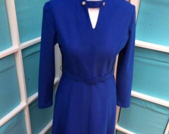 Vintage Laurie Denton 1970s dress - size 12