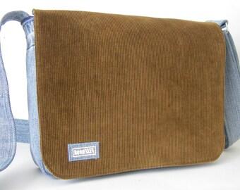 upcycling Shoulder bag jeans/cord