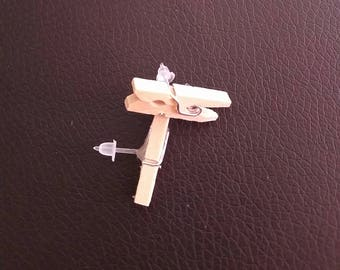 Wood earrings clips