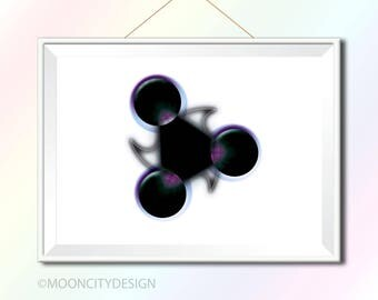 Digital artwork '3 Circles'.