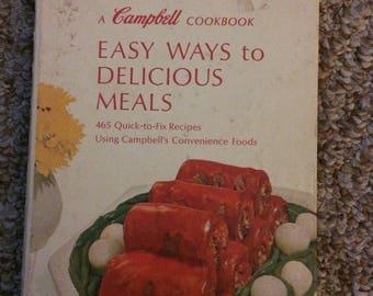 Vintage Cambells cookbook 1968 spiral bound hardcover